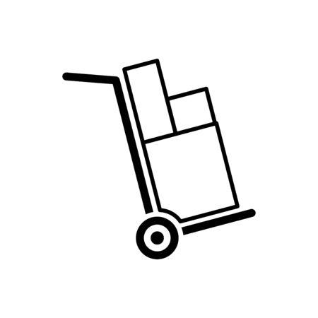 Handcart icon flat vector template design trendy