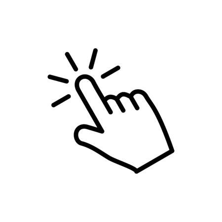 Finger icon flat vector template design trendy