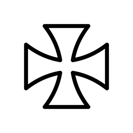Iron cross icon flat vector template design trendy