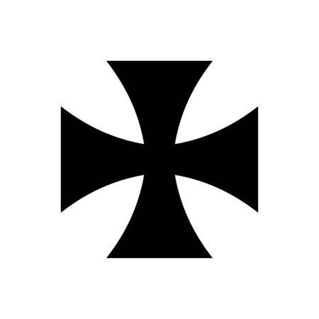 Iron cross icon flat vector template design trendy Illustration