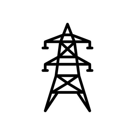 Electric tower icon flat vector template design trendy