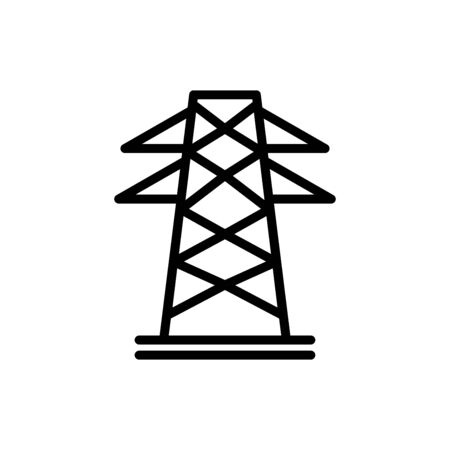 Electric tower icon flat vector template design trendy Ilustracje wektorowe