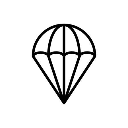 Parachute icon flat vector template design trendy