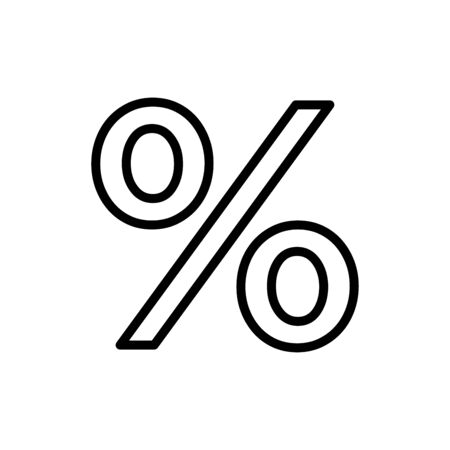 Percentage icon flat vector template design trendy
