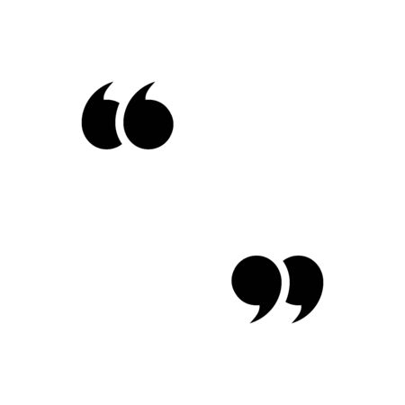 Quote icon flat vector template design trendy