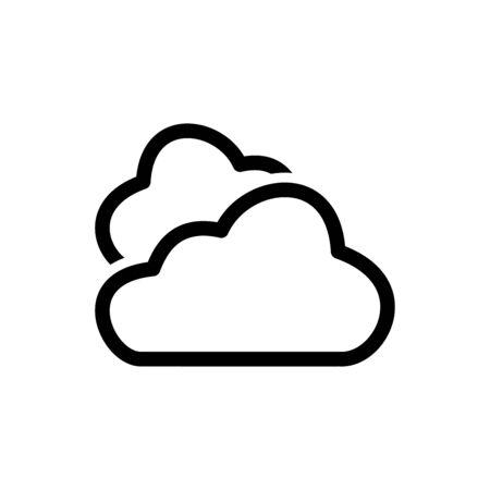 Cloud icon flat vector template design trendy