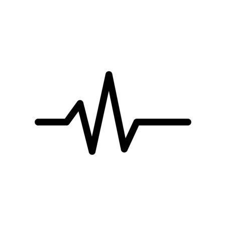 Pulse medical icon flat vector template design trendy Vettoriali