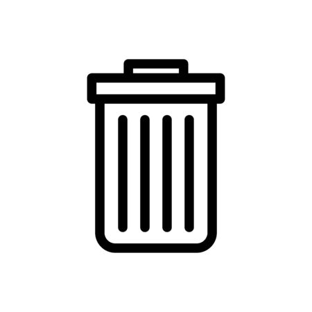 Trash can icon flat vector template design trendy Illustration