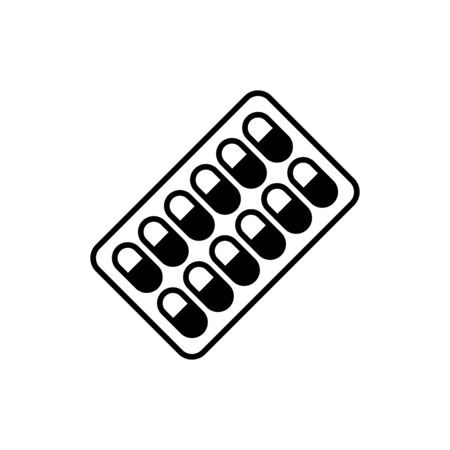 Pills icon flat vector template design trendy
