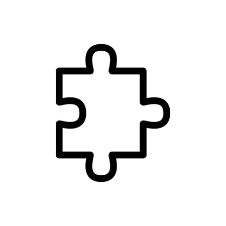 Puzzle icon flat vector template design trendy