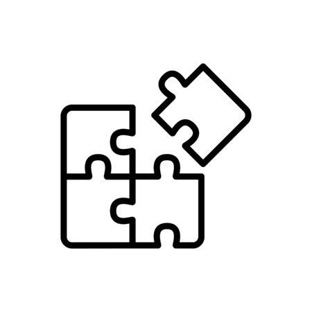 Puzzle icon flat vector template design trendy Vecteurs