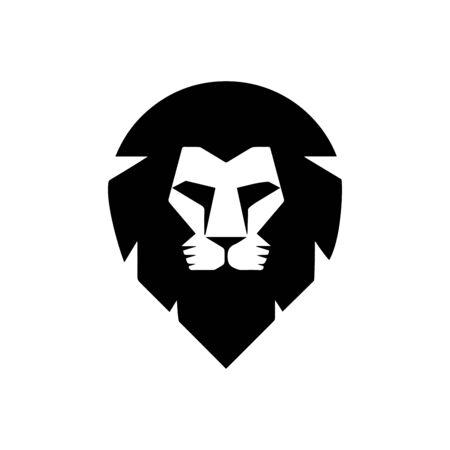 lion face icon Vektorové ilustrace