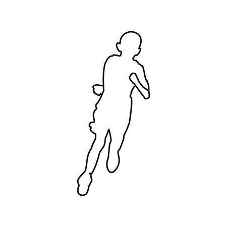 Run icon trendy