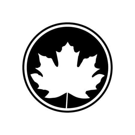 Maple leaf icon vector template design trendy 일러스트