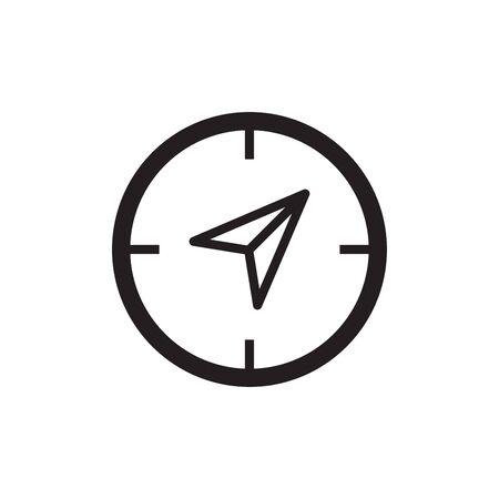 Compass nautical icon flat vector template design trendy