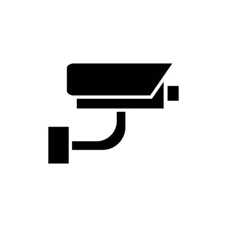 Surveillance camera icon flat vector template design trendy