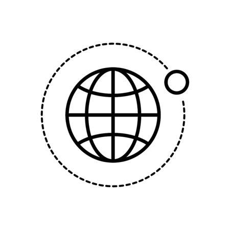 Satellite icon flat vector template design trendy