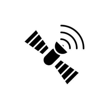 Satellite icon flat vector template design trendy Vecteurs