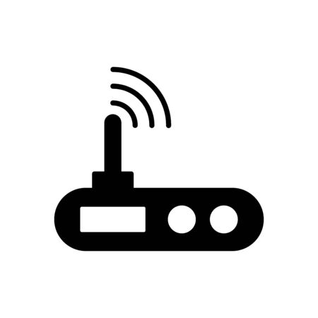Router icon flat vector template design trendy