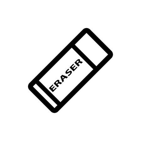 Eraser icon flat vector template design trendy
