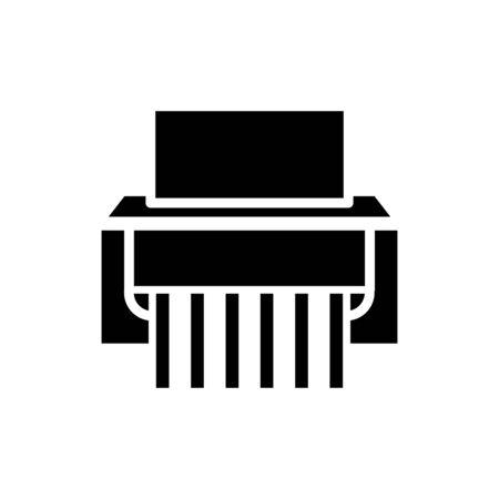 Paper shredder icon flat vector template design trendy