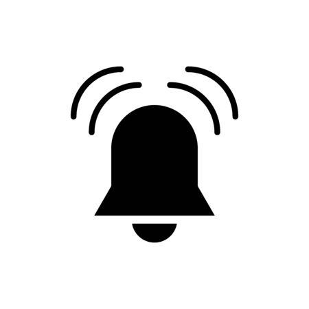 Alarm bell icon flat vector template design trendy Illustration