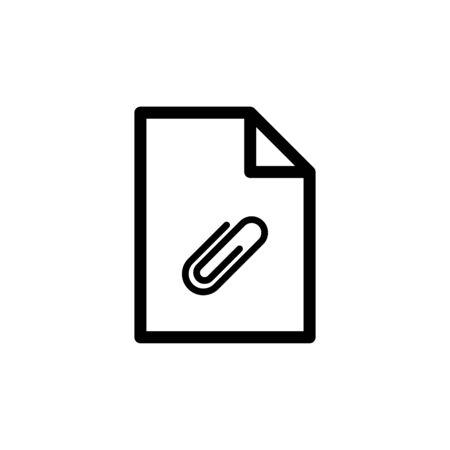 Paper clip icon flat vector template design trendy