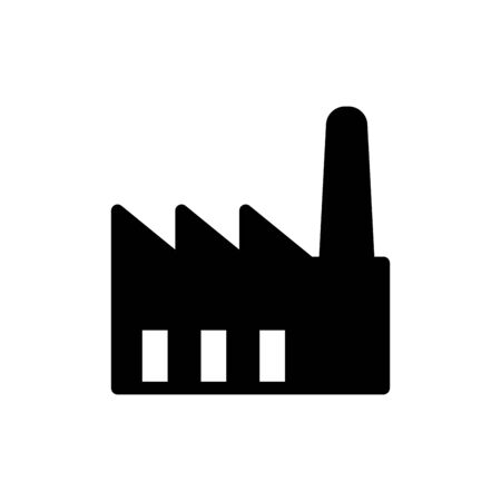 Factory icon flat vector template design trendy