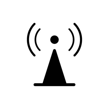 Tower signal icon flat vector template design trendy Ilustracja