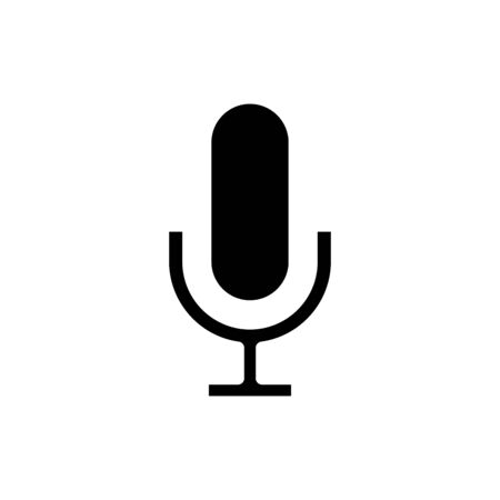 Microphone icon flat vector template design trendy