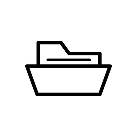 Folder icon flat vector template design trendy