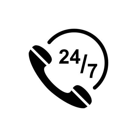Telephone icon flat vector template design trendy Vector Illustration