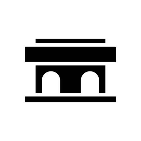 Courthouse icon flat vector template design trendy 向量圖像