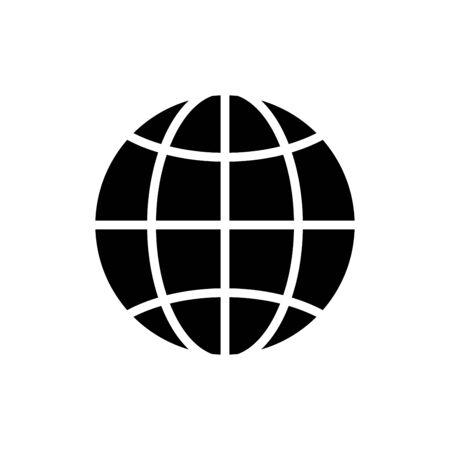 Globe icon flat vector template design trendy