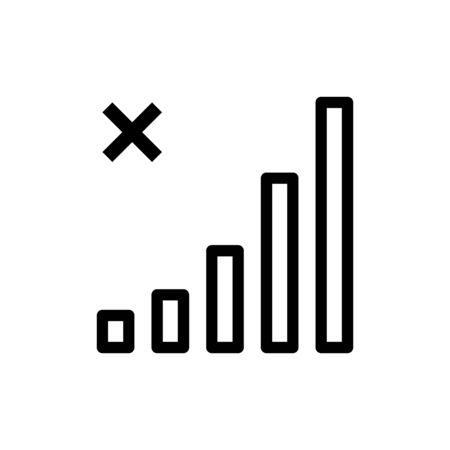 No signal icon flat vector template design trendy