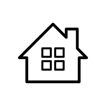 Home icon flat vector template design trendy