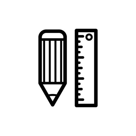 Ruler icon flat vector template design trendy