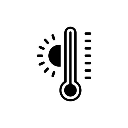 Thermometer icon flat vector template design trendy