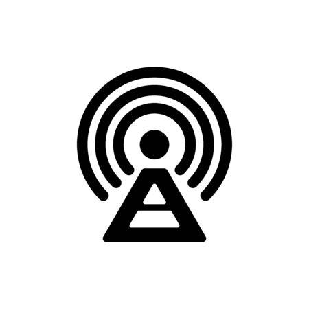 Tower signal icon flat vector template design trendy 免版税图像 - 148504002