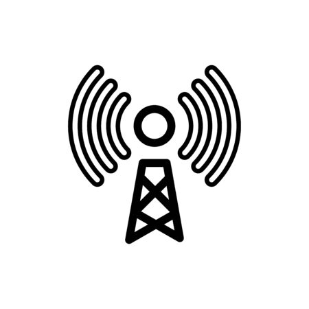Tower signal icon flat vector template design trendy Ilustración de vector