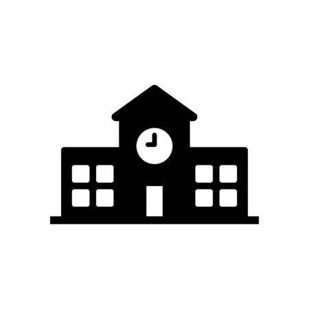 University building icon flat vector template design trendy