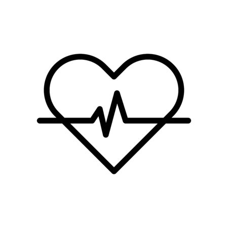 Pulse medical icon flat vector template design trendy