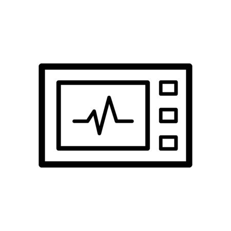 Medical record icon flat vector template design trendy