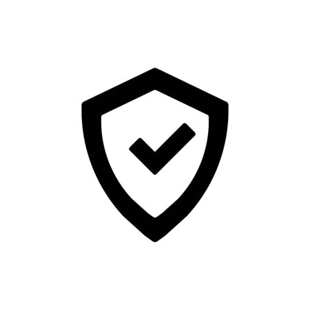 Shield icon flat vector template design trendy