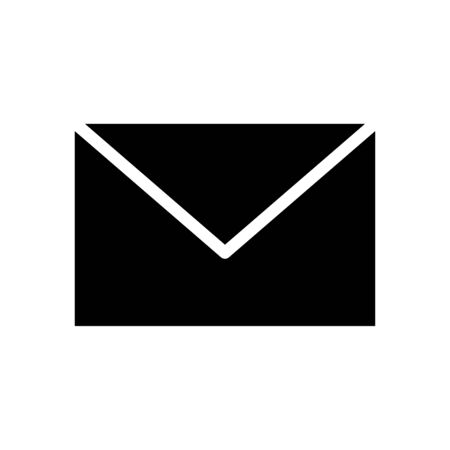 Envelope icon flat vector template design trendy