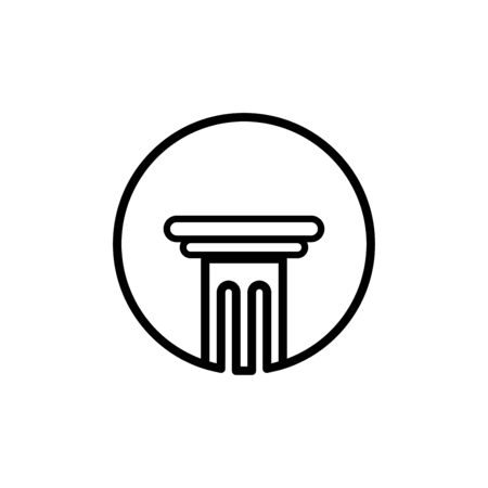 Pillar icon flat vector template design trendy Illustration