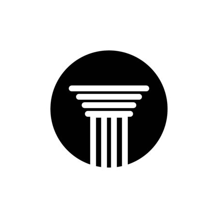 Pillar icon flat vector template design trendy Illustration