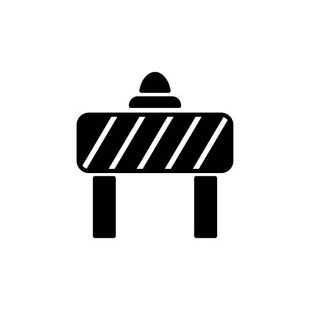Road block icon flat vector template design trendy Stock Illustratie
