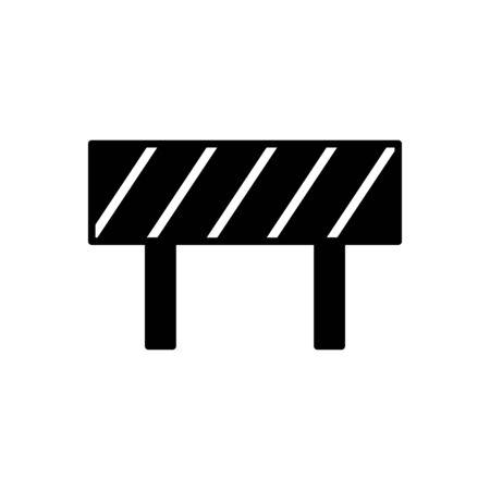 Road block icon flat vector template design trendy Illustration