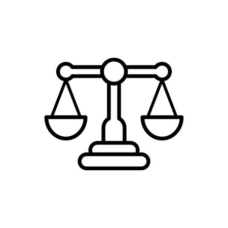 Scale of justice icon flat vector template design trendy Vector Illustration